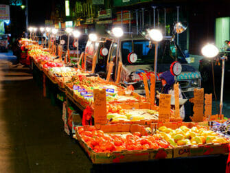 ニューヨークのチャイナタウン 市場