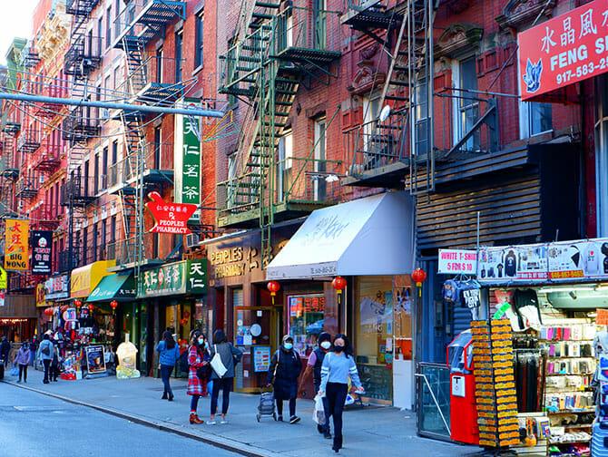 ニューヨークのチャイナタウン お店