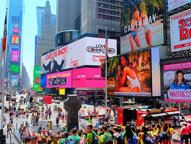 マンハッタンのミッドタウン - タイムズスクエア