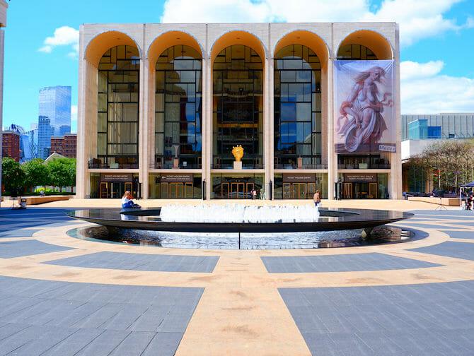 ニューヨークのアッパーウェストサイド リンカーンセンター