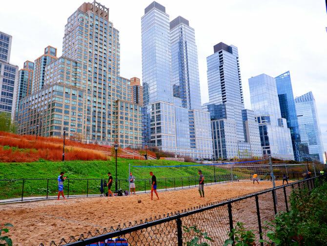 ニューヨークのアッパーウェストサイド リバーサイドパーク