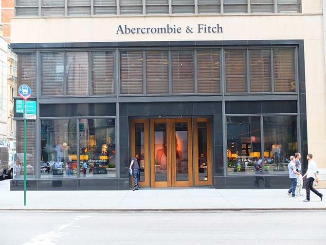 ニューヨークのアバクロンビー&フィッチ