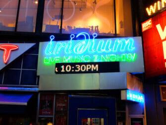 ニューヨークでのジャズ イリディウム