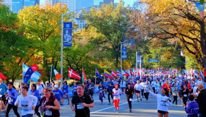 ニューヨークマラソン - セントラルパークのランナーたち