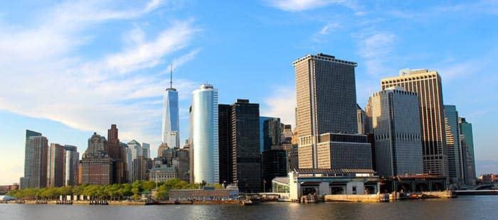 NYC スタテンアイランド マンハッタンの眺め