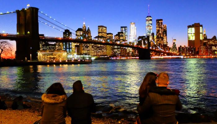 ニューヨーク ブルックリンブリッジ - スカイライン