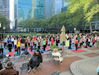 Free Yoga in Bryant Park New York