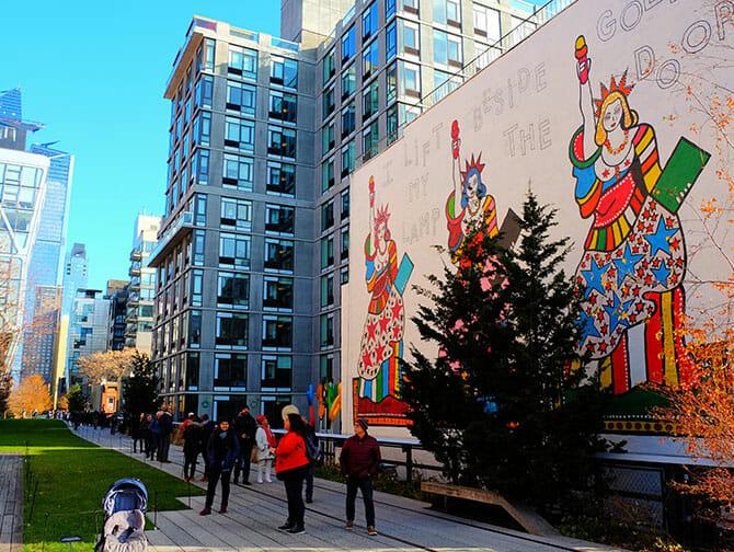ニューヨーク ハイラインパーク - 壁画