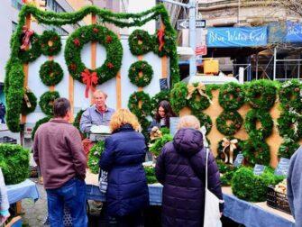 ニューヨーク マーケット - ユニオンスクエアのクリスマスリース