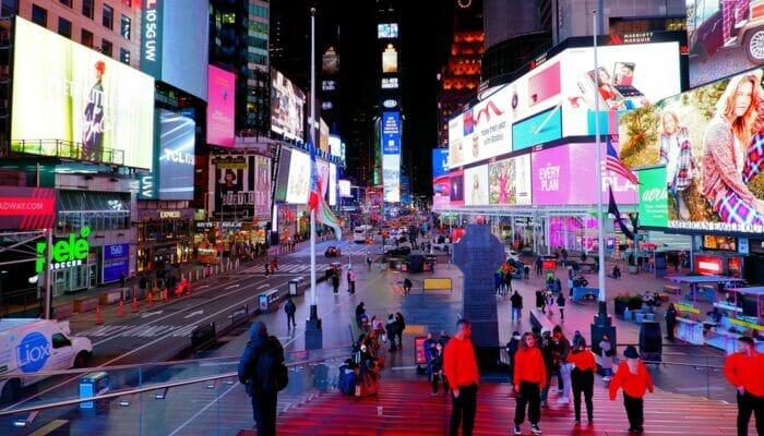 ニューヨーク シアターディストリクト - タイムズスクエア