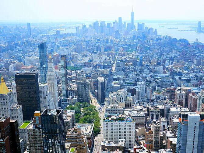 エンパイアステートビル チケット - マンハッタン ダウンタウンの眺め