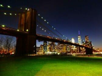 ニューヨーク 公園 ブルックリンブリッジ の 夜景