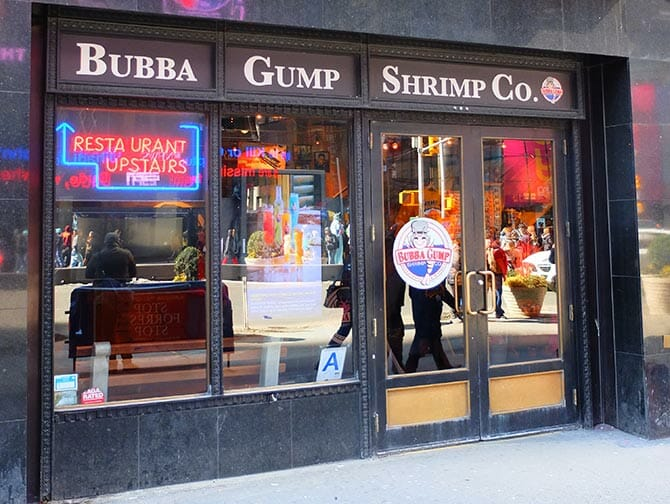 NYC テーマレストラン - ババガンプ