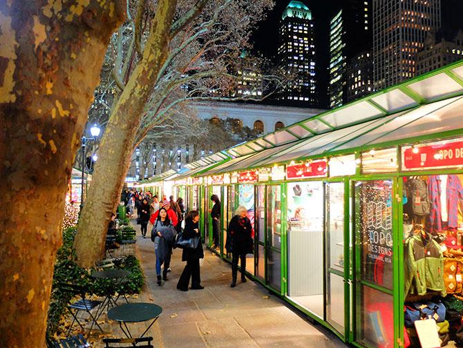 ニューヨーク クリスマスシーズン - ブライアントパーク