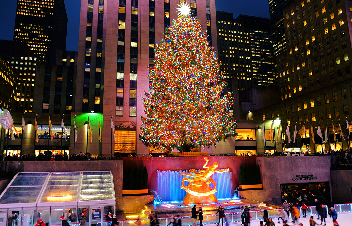 ニューヨーク クリスマスシーズン - ロックフェラー ツリー