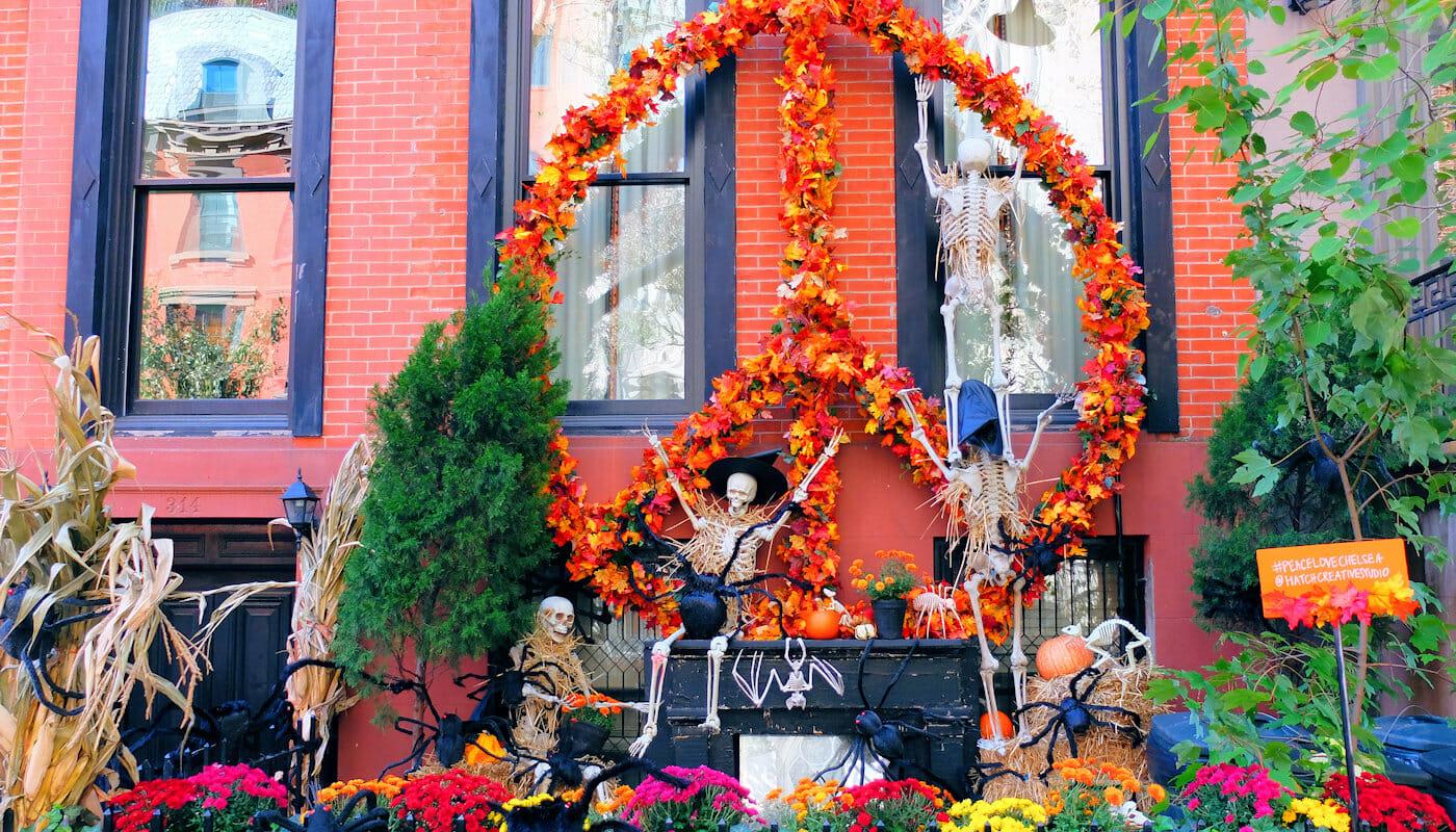 ニューヨーク ハロウィン 装飾された家