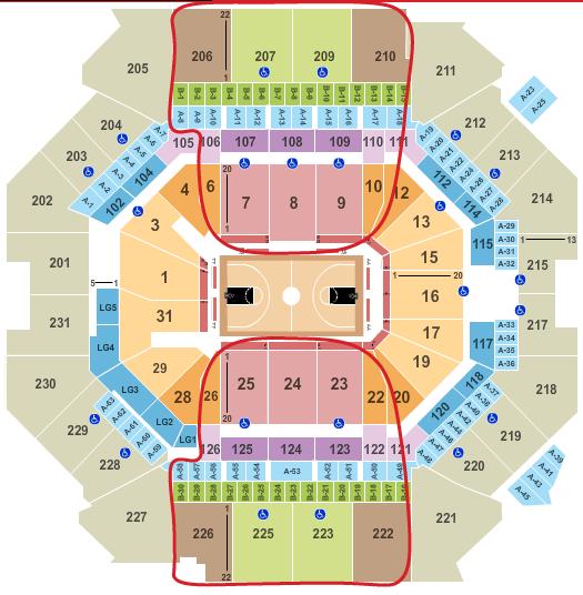 ブルックリン・ネッツのチケット - バークレイズセンター 座席表