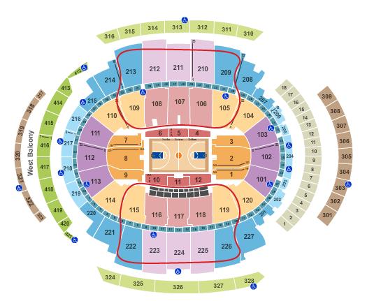 ニューヨーク・ニックスのチケット - マディソンスクエアガーデン 座席表