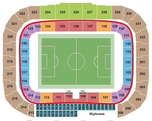 ニューヨーク・レッドブルズのチケット - レッドブルアリーナ 座席表