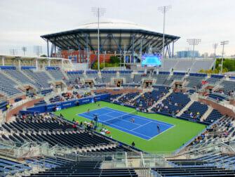 全米オープンテニス チケット - グランドスタンドからのアーサー・アッシュ