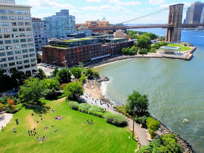 ニューヨーク ブルックリンブリッジパーク