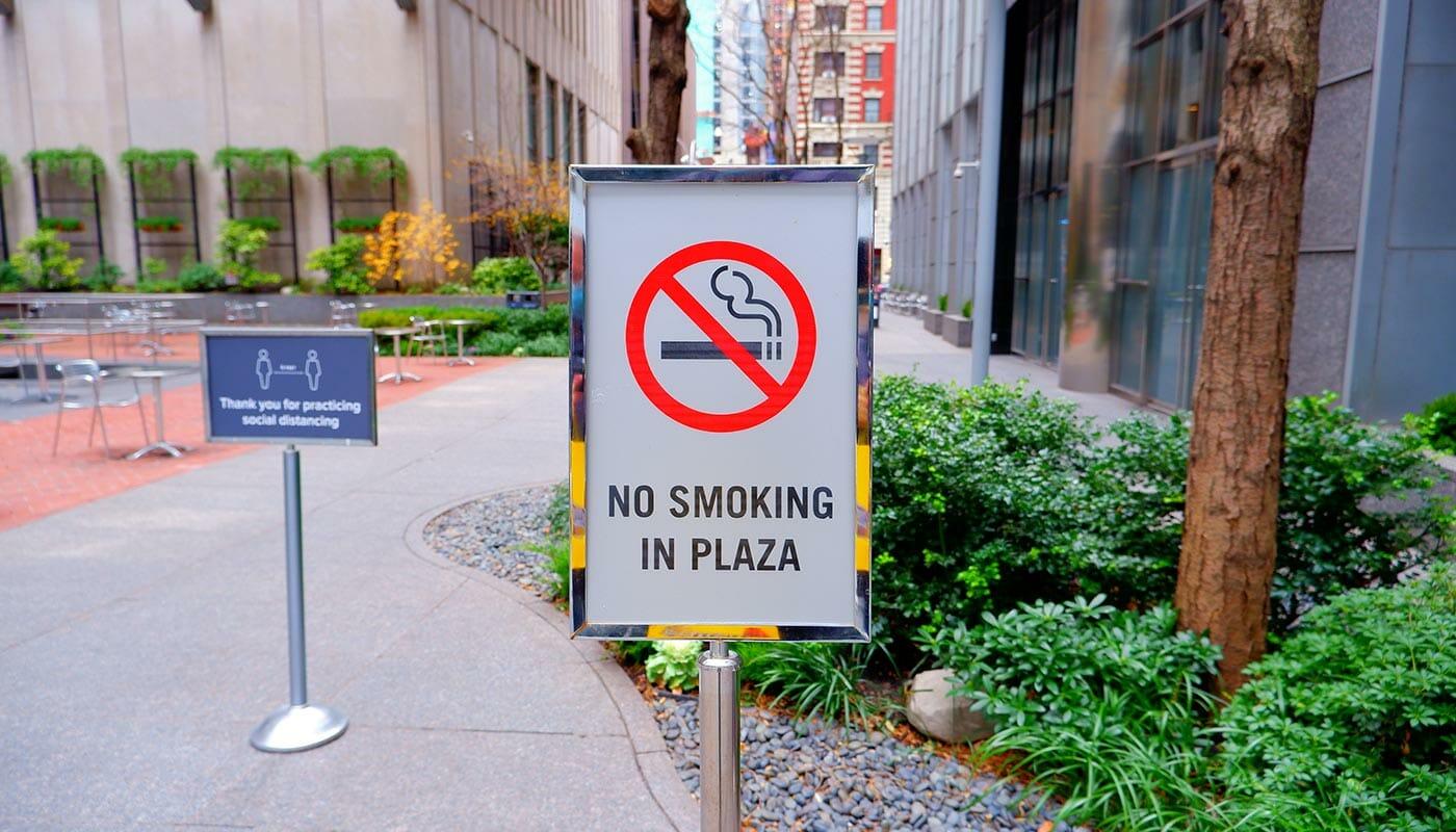 ニューヨークでの喫煙 - 公園では禁煙