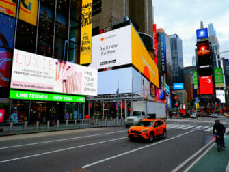 ニューヨーク グリー ツアー - タイムズスクエア