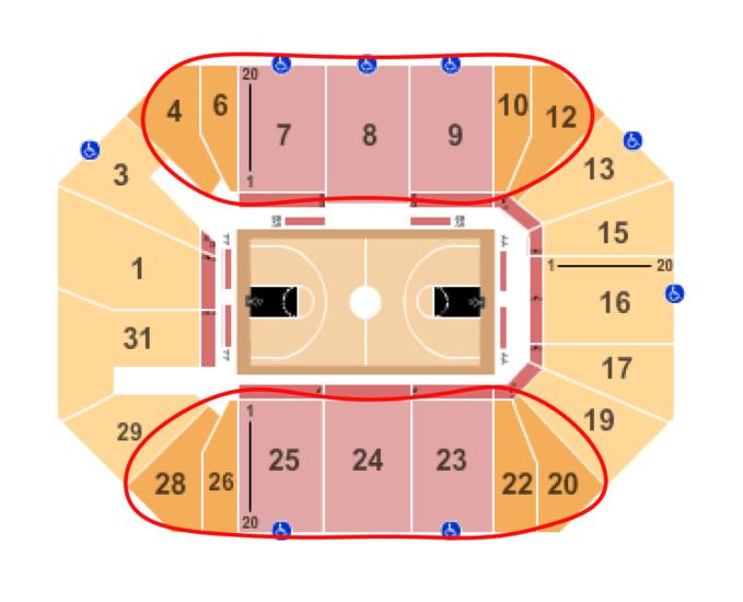 ニューヨーク・リバティ バスケットボール チケット - バークレイズセンター 座席表