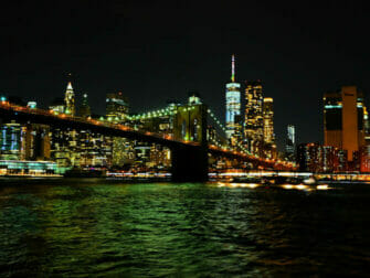 ニューヨーク ハドソンリバー ディナークルーズ スカイラインの眺め
