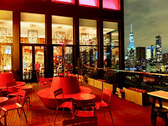 シティズンM ニューヨーク バワリー ホテル - ルーフトップ