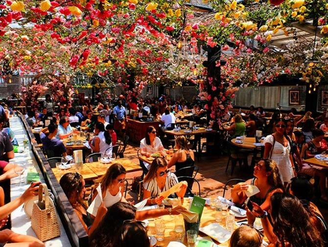 ニューヨークのレストラン - ビッレリア ルーフトップテラス
