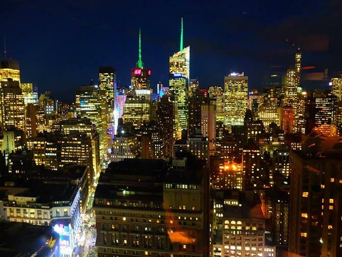 ニューヨークのレストラン - ガオンヌリからの眺め