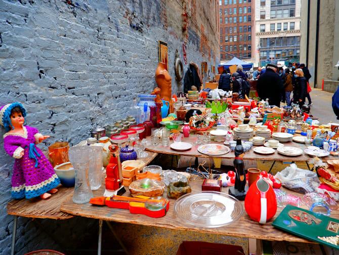 ニューヨークのフリーマーケット