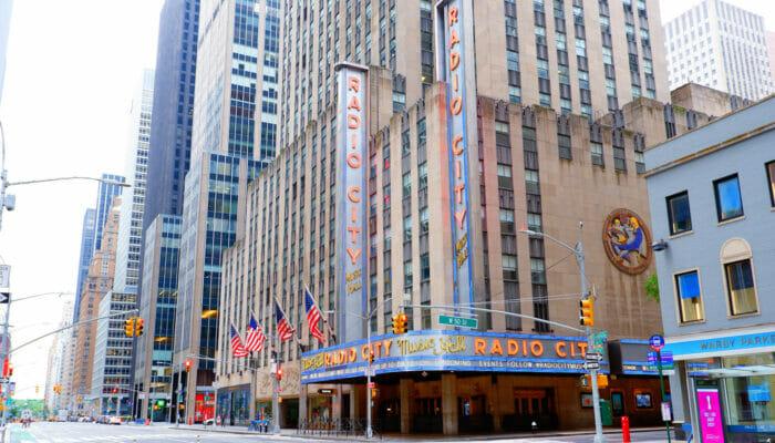ニューヨークのラジオシティミュージックホール - 外観