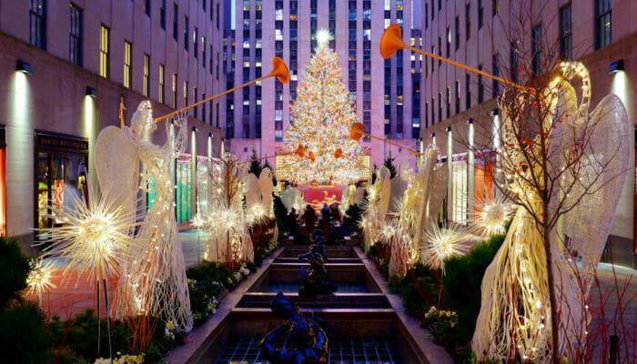 ロックフェラーセンター クリスマスツリー 点灯式